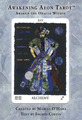 Cover of Awakening Aeon Tarot with Alchemy card